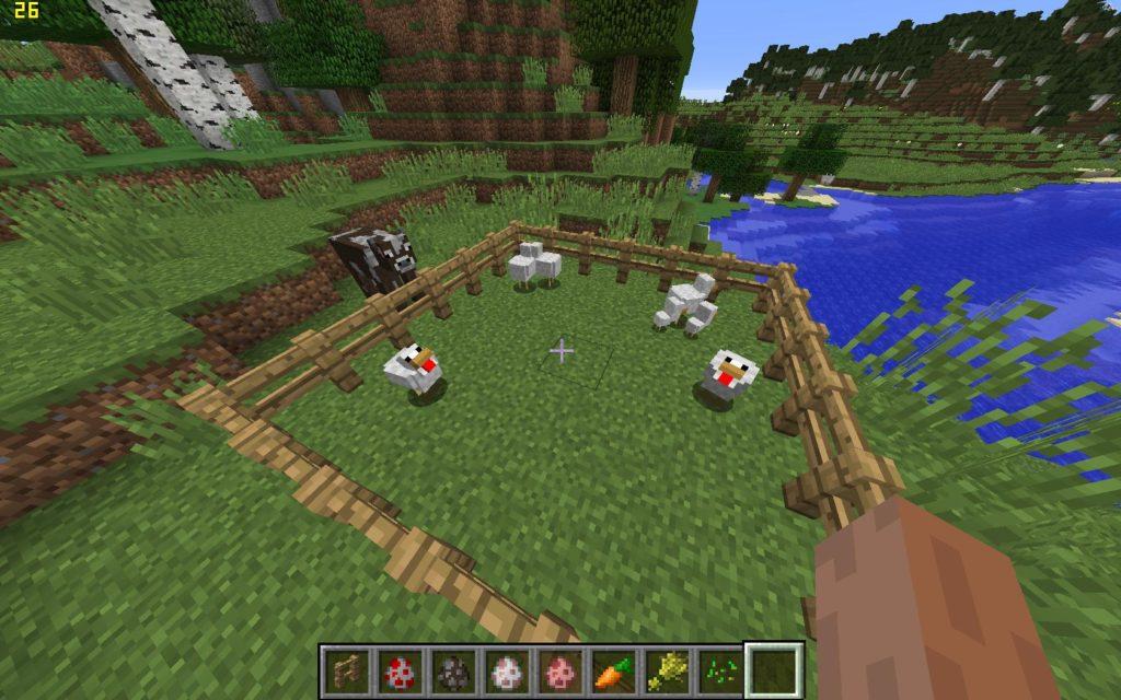 Minecraft куры