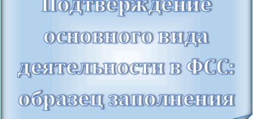 Подтверждение вида деятельности в ФСС