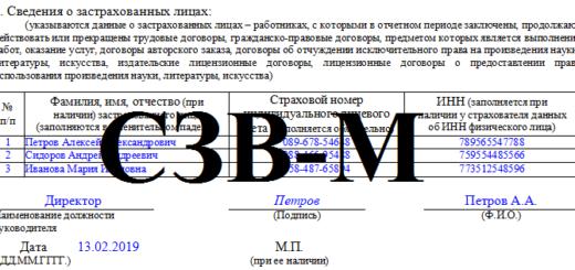 СЗВ-М