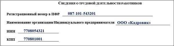 сзв-тд пфр