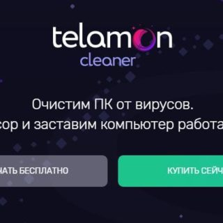 Telamon Cleaner. Программа для очистки компьютера